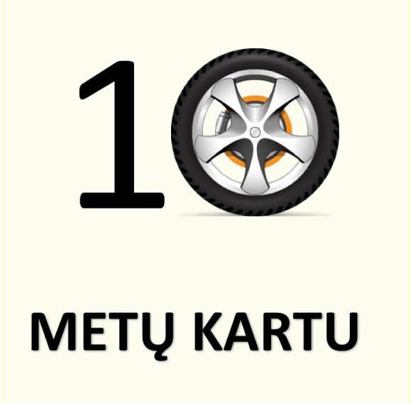 10 metu kartu